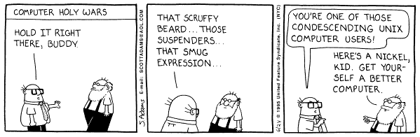 Dilbert - Computer Holy Wars